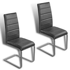 B-Ware Freischwinger Esszimmerstühle 2er Set Küchenstühle Essstühle Stühle Grau