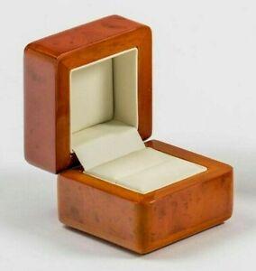 Luxury Wooden Ring Box With Walnut Finish Diamond Ring Engagement Ring Wedding