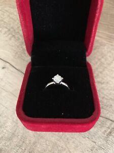 Diamond Ring $4,470 Value 14k White Gold