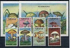 Ghana 1287/94 Block 145/46 postfrisch / Pilze ............................1/1993