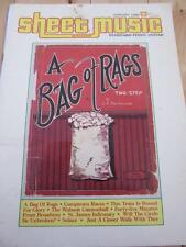 SHEET MUSIC MAGAZINE JAN 1986 A BAG OF RAGS TWO STEP CAMPTOWN RACES WABASH