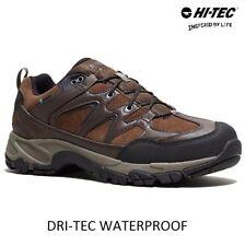 Mens HI TEC Leather Waterproof Hiking Walking Trek Boots Trainers Shoes Size UK
