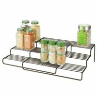 mDesign Modern Metal Adjustable/Expandable Kitchen Organizer Spice Rack