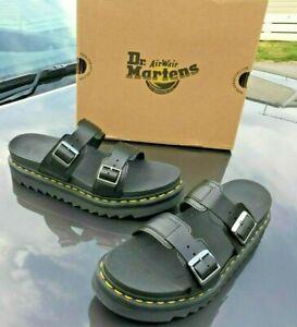 Dr.Martens Myles black brando leather sandals UK 11 EU 46