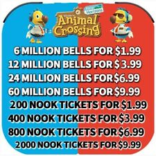 Animal Crossing:New Horizons Bells, Nook Mile Tickets, Fish Bait Fast Delivery