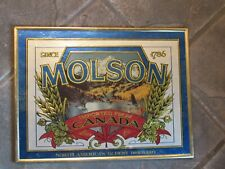 Molson Canadian Beer Sign since 1786 North America's Oldest Brewery opener LOT