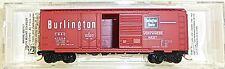 Chicago Burlington 40 Estándar BOX CAR Micro Trains 022 00 130 N 1:160 emb.orig