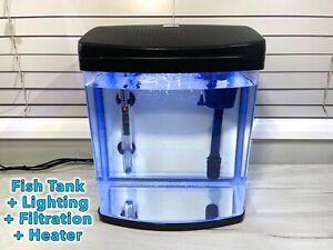 20 Litre Aquarium Glass Fish Tank. Full Set Up. Lighting + Filter + Heater