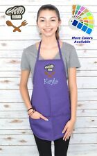 Personalized Kids Apron with Utensils Embroidery Design