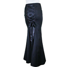 Chic Star Long Fishtail Corset Skirt Gothic Victorian Steampunk Plus Size