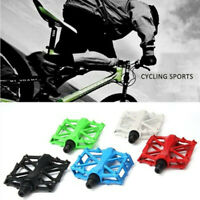 Paired Aluminum Alloy Flat Bicycle Pedal for Mountain Road Bike MTB Fixed Gear