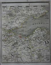 Original antique map SCOTLAND, EDINBURGH, KIRCALDIE, DUNFERMLINE, Cary, 1794