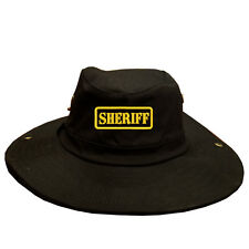 100% Cotton Military Boonie Bush Hiking Soldier Outdoor Hat SHERIFF