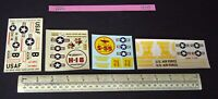 Late 1950s Revell & Monogram Decals x 4 (No Kit) Piasecki x2 Sikorsky Invader