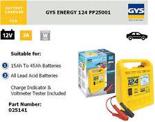 GYS Energy 124 Manuel Chargeur Batterie 12V
