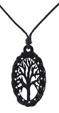 Collar Eje de Vida - Celta-oval negro-madera Joya Étnico Paz BB 1054 A42