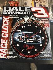 Dale Earnhardt Sr. #3 Wall RACE CLOCK with Real RACING SOUNDS in BOX As Seen L1