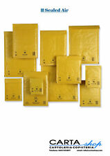 10 BUSTE IMBOTTITE A/000 SEALED AIR - FORMATO UTILE  CM. 11X16 MAIL LITE GOLD