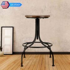 Adjustable HeightElegant Vintage Iron&Wood Bar Stool Seat for Garden Living Room