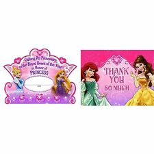 Disney Princess 8 Invitations 8 Thank You Postcards Hallmark Party Pack