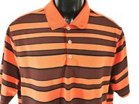 Nike Golf Men's Polo Shirt Size XL Tour Performance Short Sleeve Stripe Dri Fit