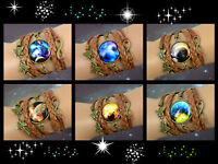 Galaxy Glass Cabochon Braided Leather Bracelet/ Choice Of 7 Styles/ U.S Seller!