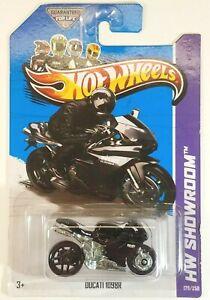 2013 Hot Wheels Black DUCATI 1098R Motorcycle 179/250