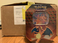 Pokémon Hidden Fates - Case Of 12 Sealed Charizard Tins