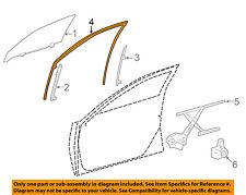 lexus toyota oem 07-16 ls460 front door run weather strip right 68141-50022