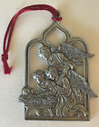 Vintage Pewter Nativity Angels Ornament Seagull Pewter Canada 1996 Double Sided