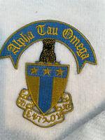 "Alpha Tau Omega Fraternity Embroidered Golf Towel 16"" x 24"""
