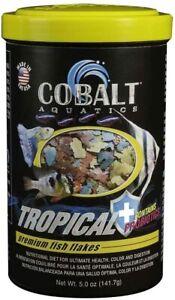 5oz Cobalt Tropical Premium Fish Flakes, FREE 12-Type Pellet Mix Included