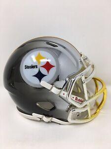 Steelers custom three tone CHROME  riddell speed mini helmet