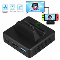 Charging Dock Station TV HDMI Converter w/ USB Port for Nintendo Switch Console