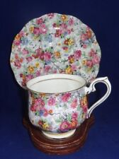 VTG Royal Albert Tea Cup & Saucer Set Rose Chintz Floral Crown Mark Bone China