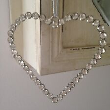 Shabby Chic Decorative Hanging Large Crystal Bead Heart