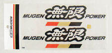 8 INCH JDM MUGEN POWER DECAL STICKERS BLACK COLOR, MADE IN JAPAN HONDA ACURA NEW
