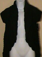 NWT $69.50 INC Women's Black Open Front Cardigan Sweater Size: M