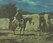 """OLAF WIEGHORST 1969 Southwestern Book Print """"CABALLERO"""" From Oil Painting"""