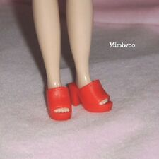 "12"" Neo Blythe Pullip Bjd Doll Fashion Wear Open End High Heel Shoes Red"