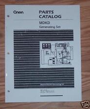 ONAN MDKD SPECS  A-C  MARINE GENSET PARTS LIST 981-0222