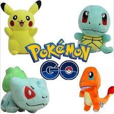 4PCS Pokemon Go Plush Toys Pikachu Squirtle Bulbasaur Charmander Action Toy Set
