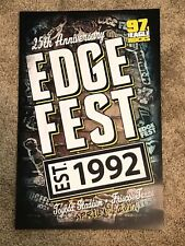 102.1 The Edge Kdge Final Edgefest Poster 97.1 The Eagle Kegl 25Th Anniversary