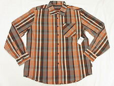 $64 NWT NEW Mens Sean John Button Down Shirt LS Plaid Woven Urban Size L N212