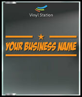 Your Shop Name Sign Business Store Sign Vinyl Decal Sticker Window Door