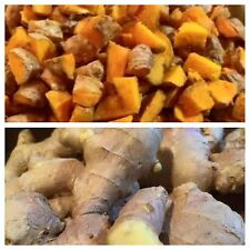 Fresh CERTIFIED ORGANIC Turmeric Root  & Ginger Combo 250g each -  Free P+P (UK)