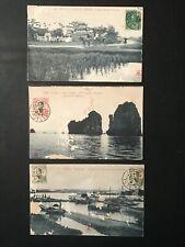 LOT 3 CPA TONKIN Indochine Haïphong Along Carte postale ancienne Asie