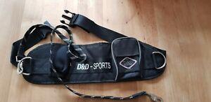D&D SPORTS Joggingleine, schwarz, 110cm, für grosse Hunde - WIE NEU!!