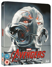 Avengers Age of Ulton - Limited Edition Lenticular Steelbook (Blu-ray 2D/3D) NEW