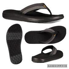 Teva Voya Flip Flop Sandals Men 10 Vori Black EVA Lightweight Foam Webbing Vegan